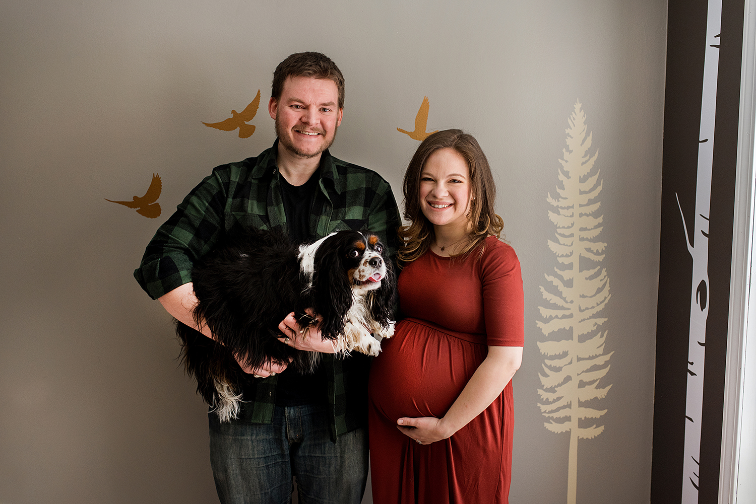 Maternity photographer Connecticut. Maternity portraits with family dog