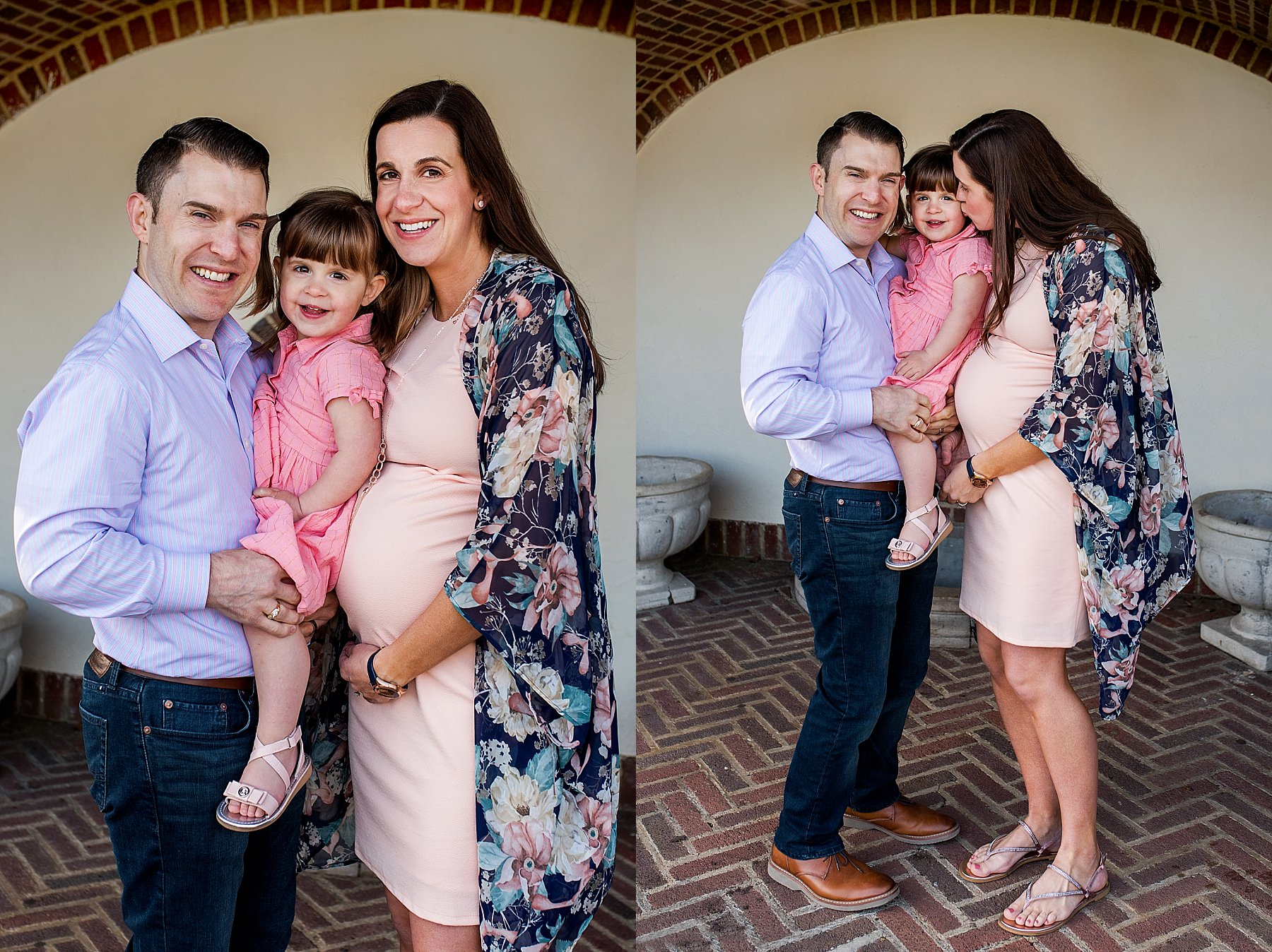 family portraits with expecting mother in CT