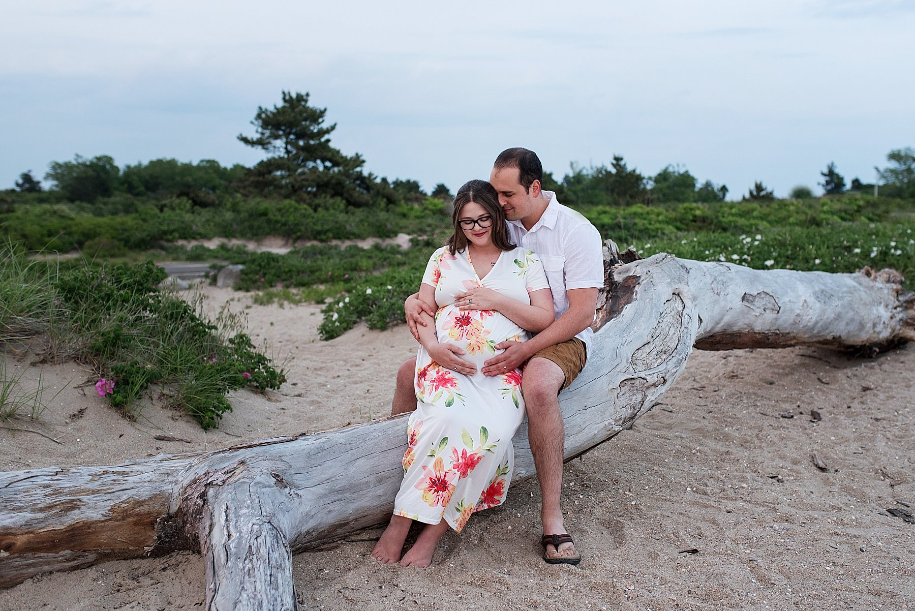 ct maternity photography at the beach