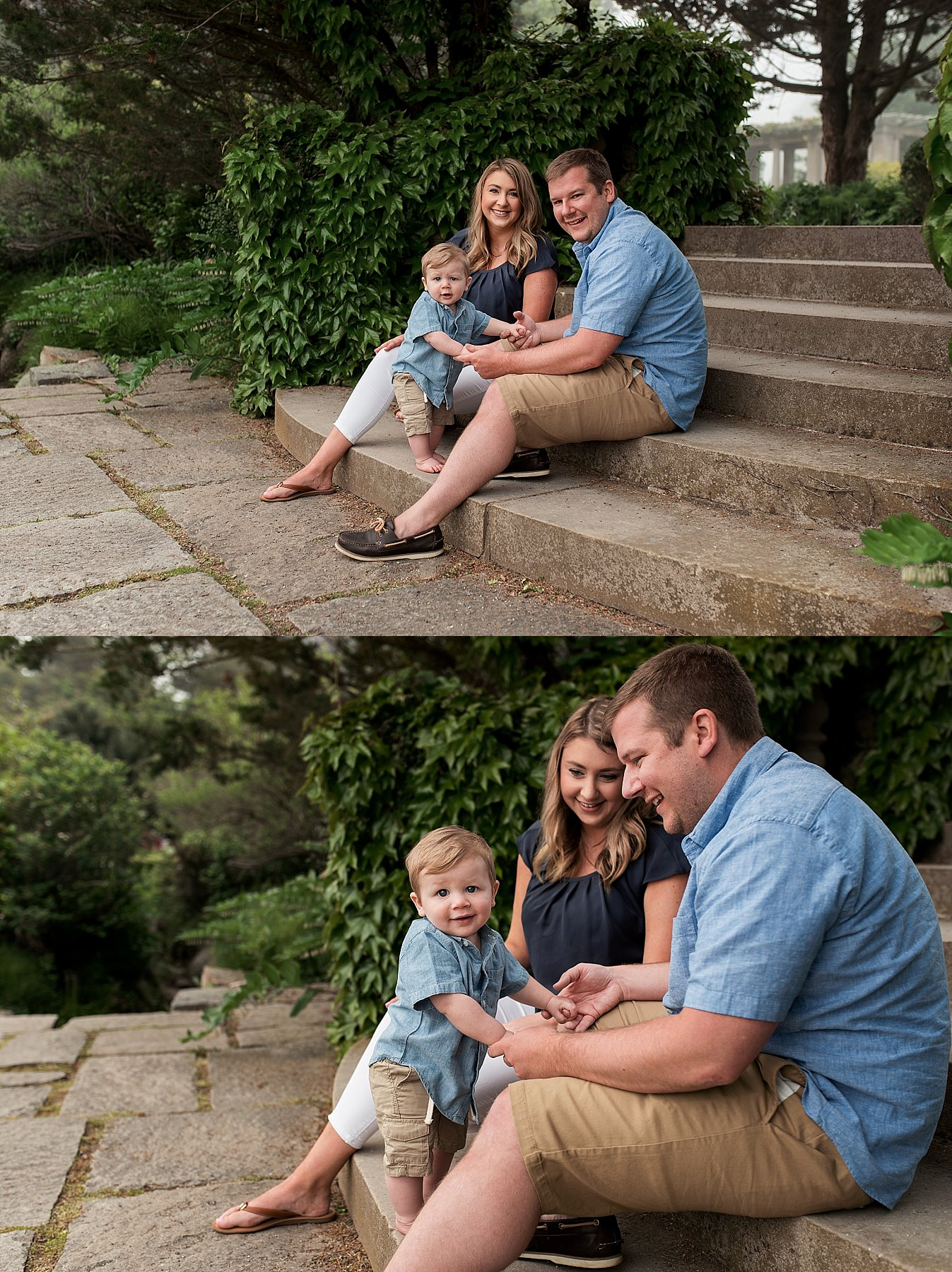 Mother and Father with infant during Connecticut family photography