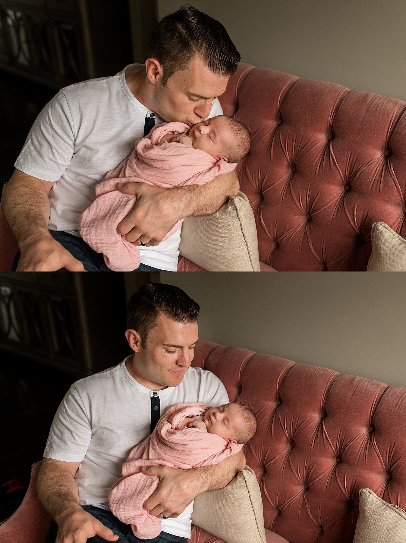 newborn and father portaits