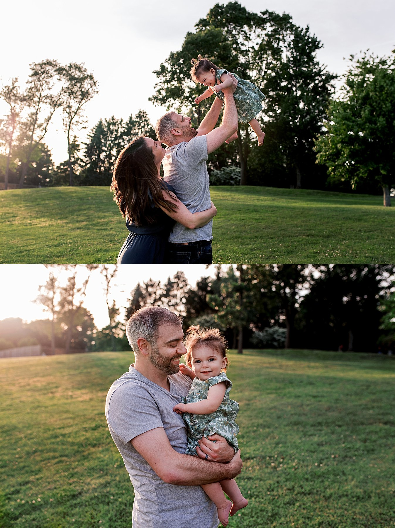 family photography at the park at sunset in connecticut