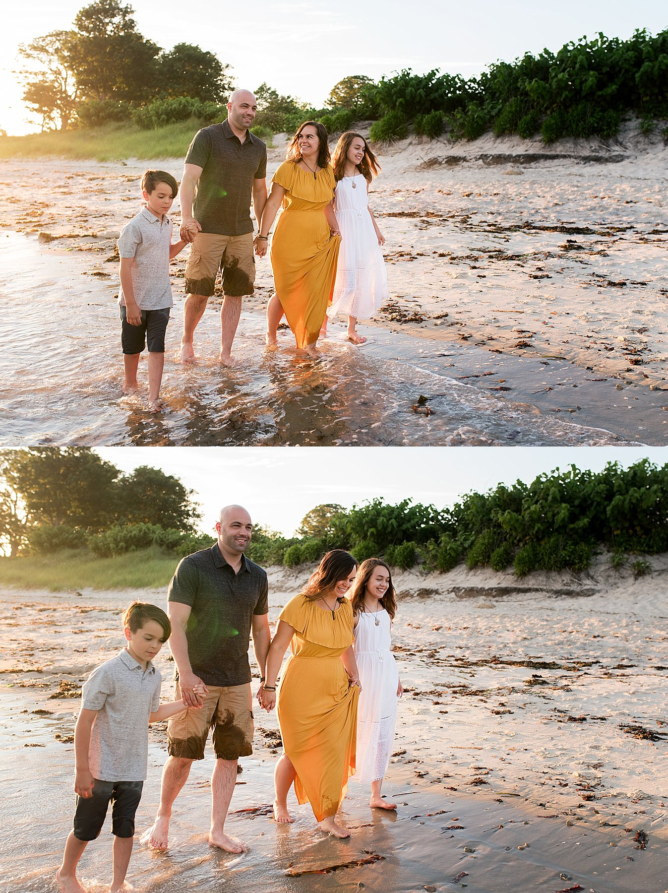 Connecticut family photography on the beach