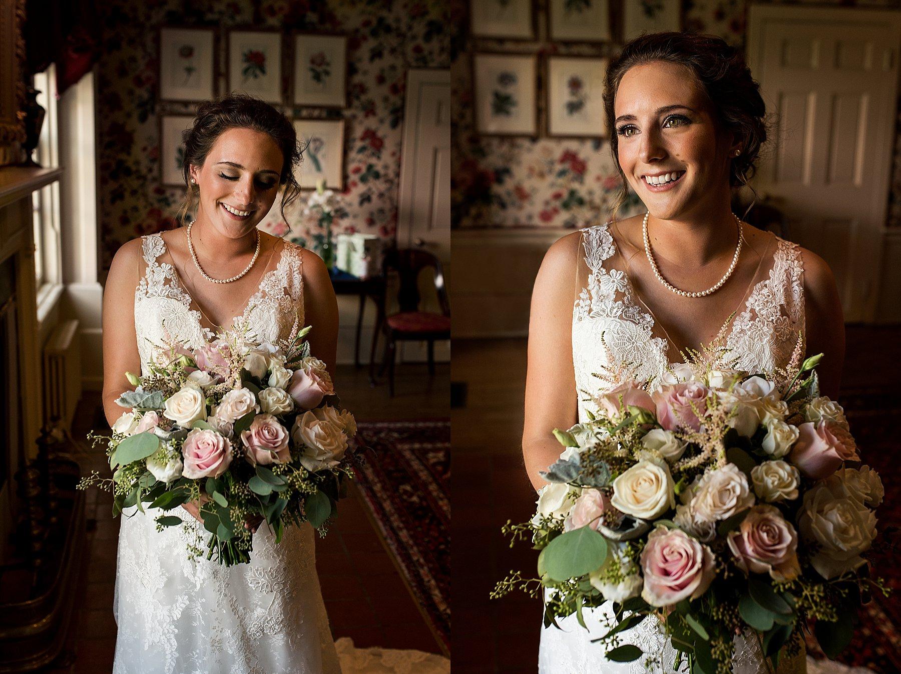 Bride portraits at Hillstead Museum wedding venue