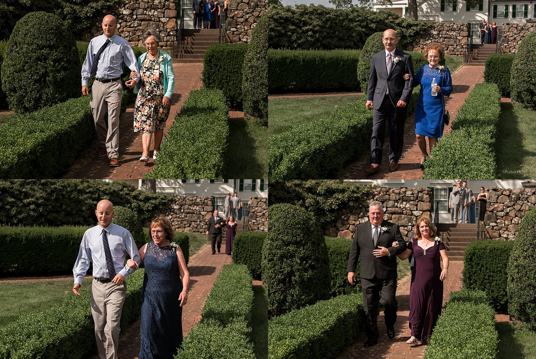 Wedding ceremony at the Hillstead Museum