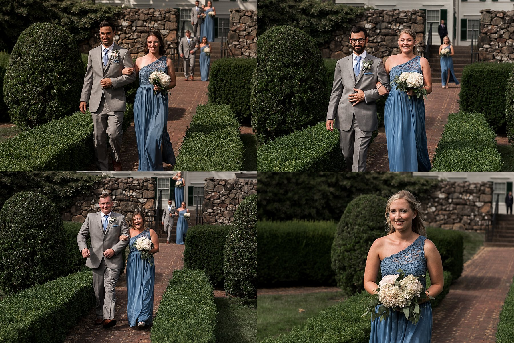Ceremony in the garden at the Hillstead Museum