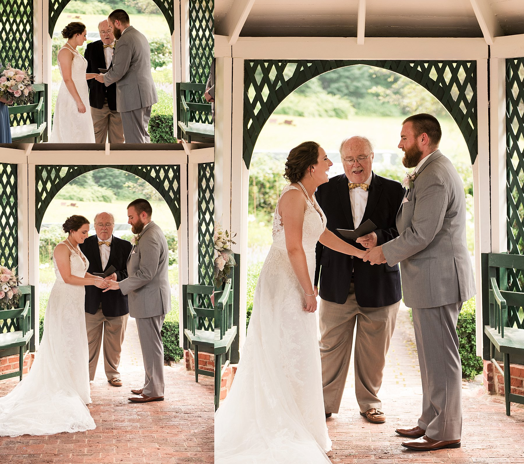Bride and Groom during wedding ceremony in Farmington, CT