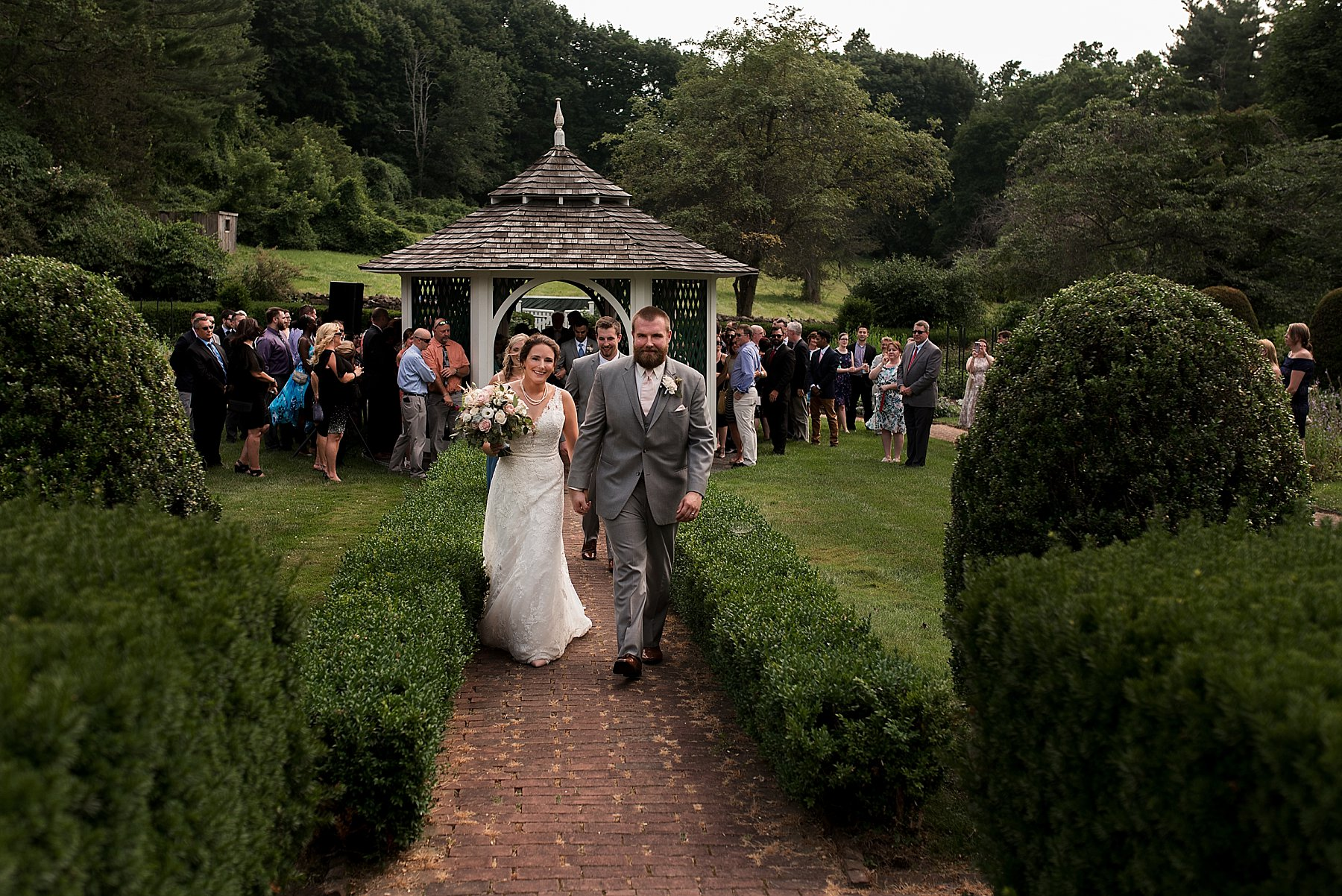 wedding ceremony at the Hillstead Museum in Farmington, CT