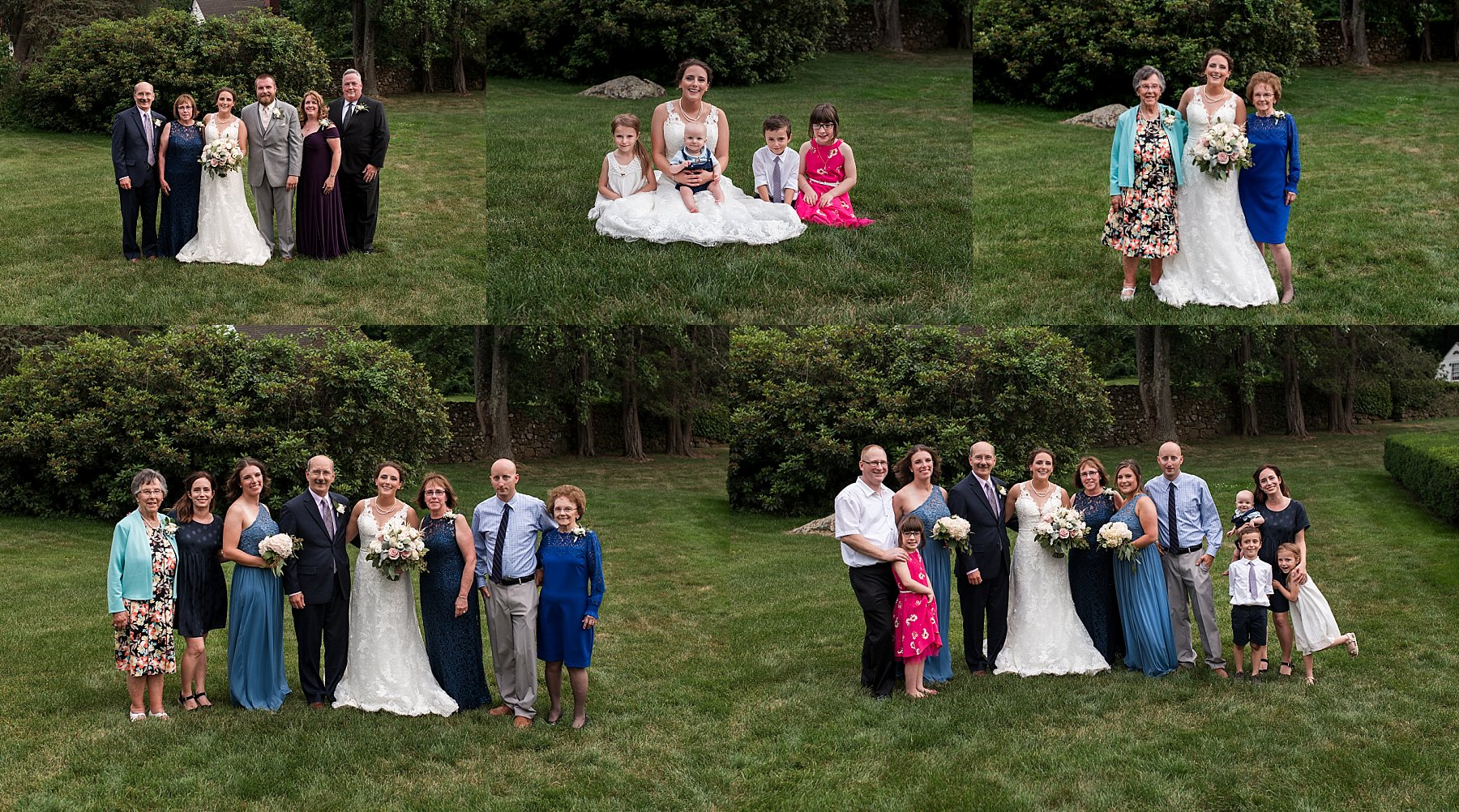 Family formals in the garden at the Hillstead Museum