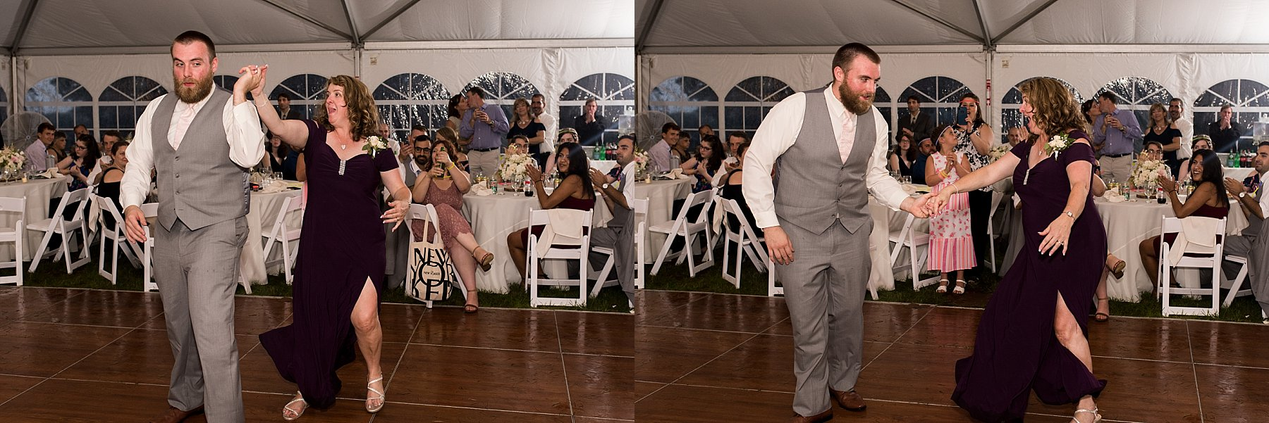 mother and son dance at the hillstead museum venue