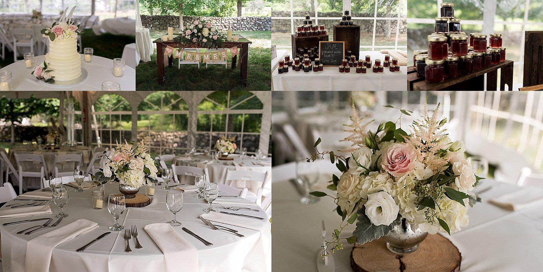 wedding reception details at farmington, ct venue