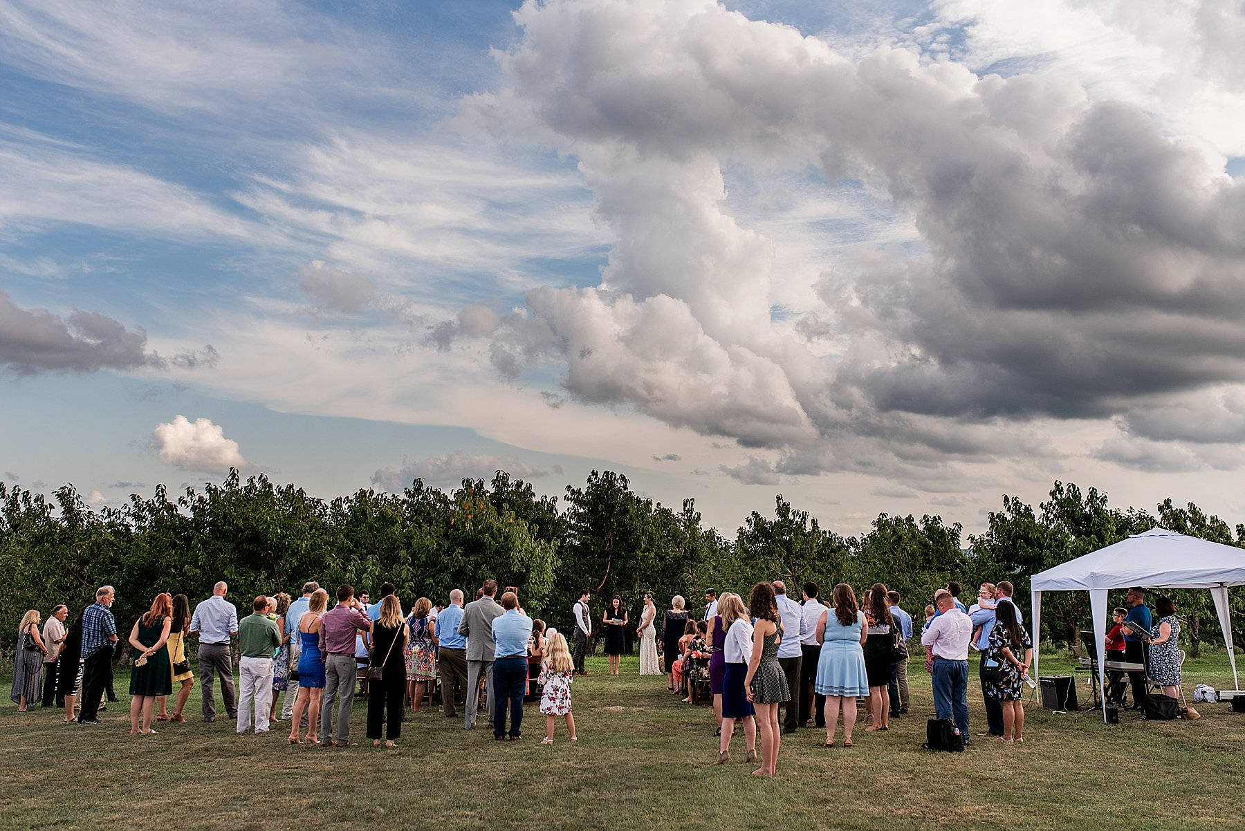 Wedding ceremony at March Farms in Litchfield County