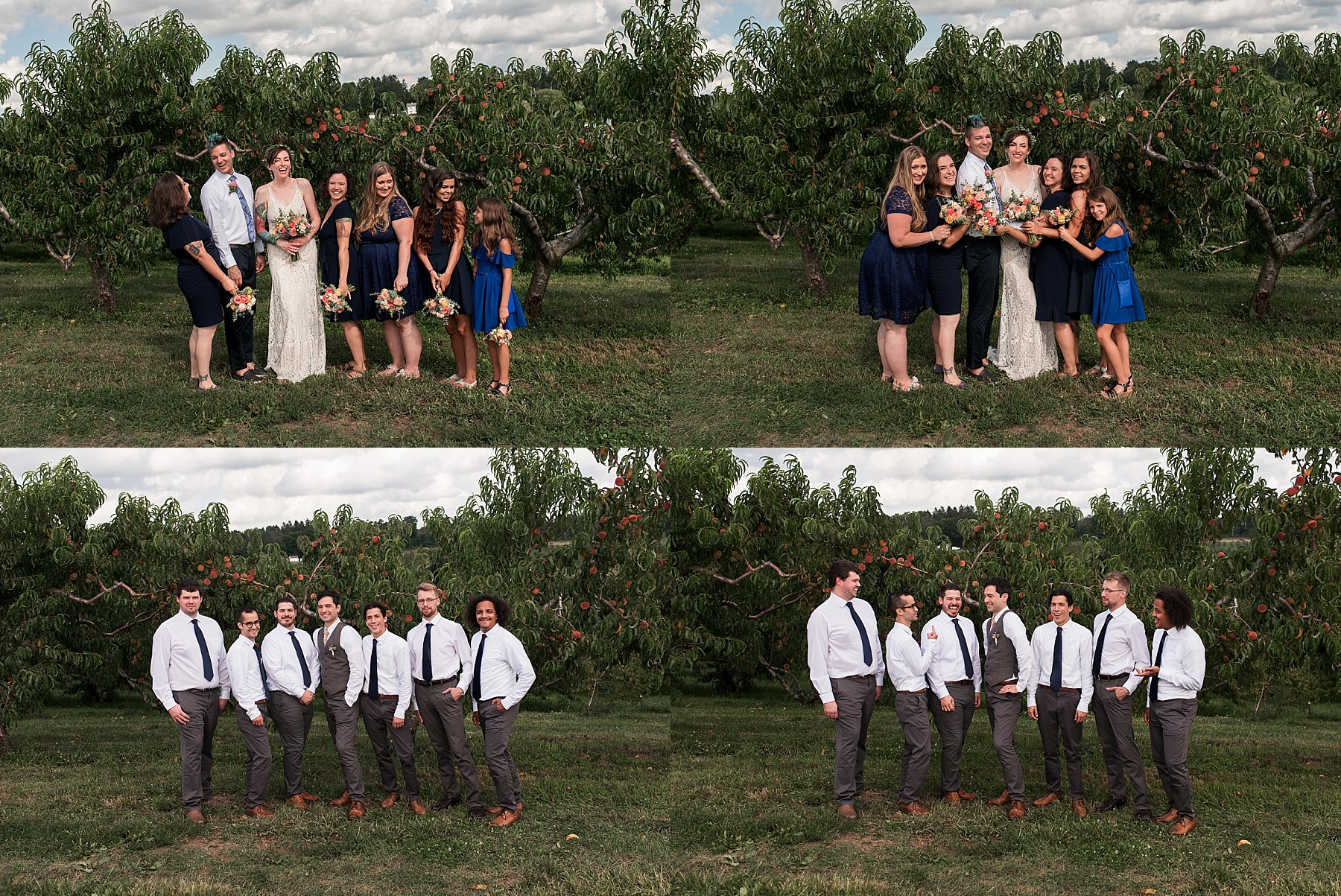 wedding party photography CT