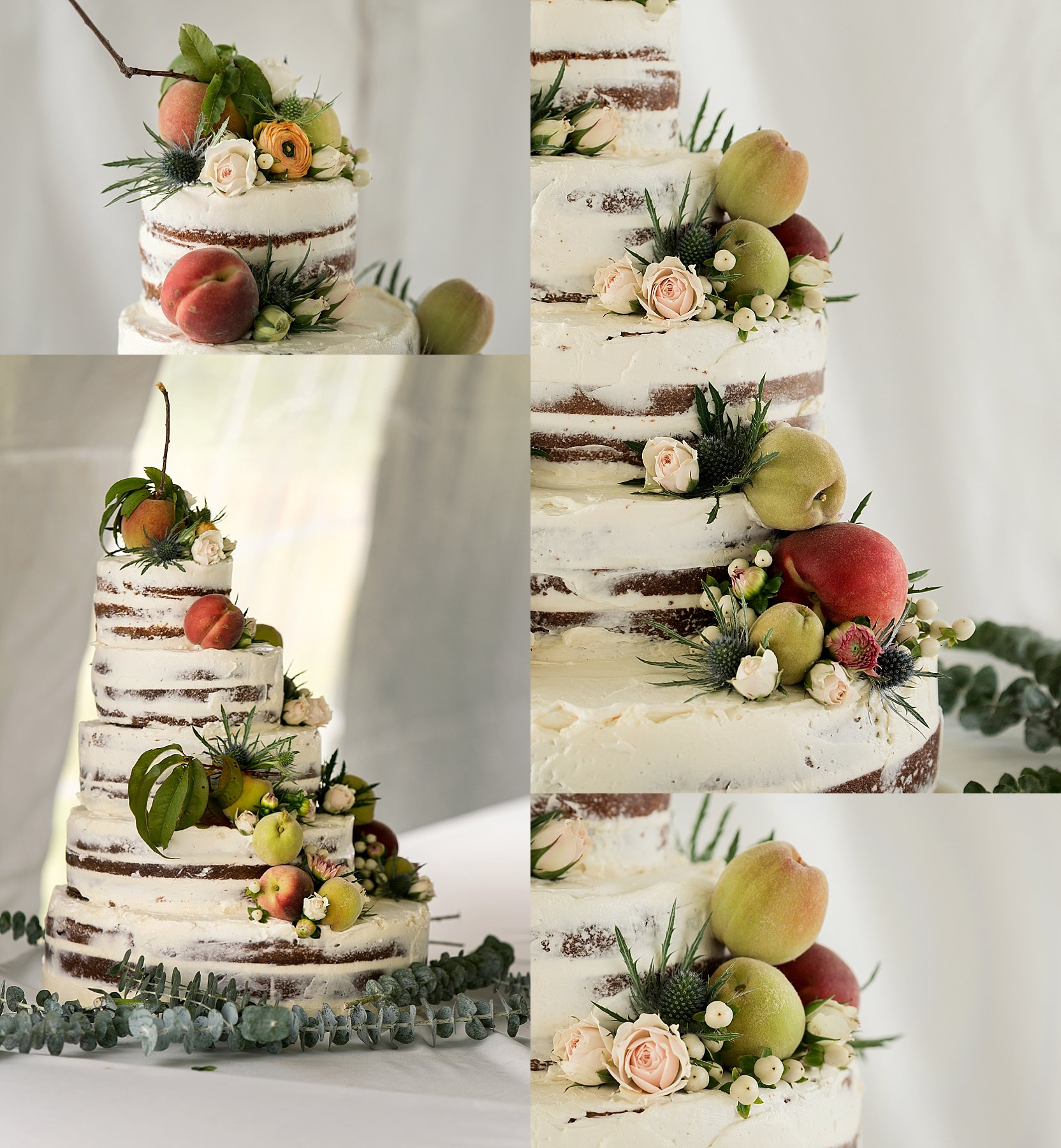 rustic peach wedding cake. CT wedding photographer.