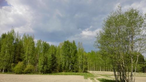 Eräänä päivänä sadepilviä näkyi, mutta sadetta ei..