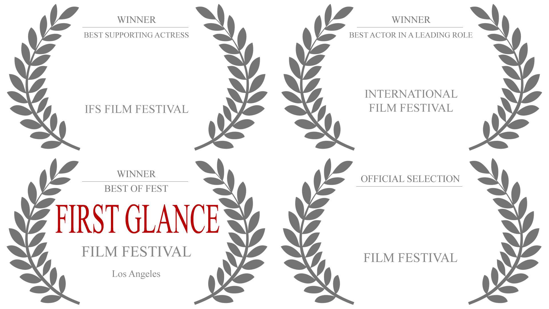 Film Festival Awards for the feature film, Natural Selection