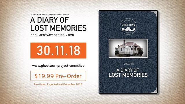 "Due to the overwhelming response from EOI's we released last month we are excited to announce that ""A Diary of Lost Memories"" is coming to DVD! Head to www.ghosttownproject.com/shop to purchase. 30.11.18  Shipping Australia ONLY"