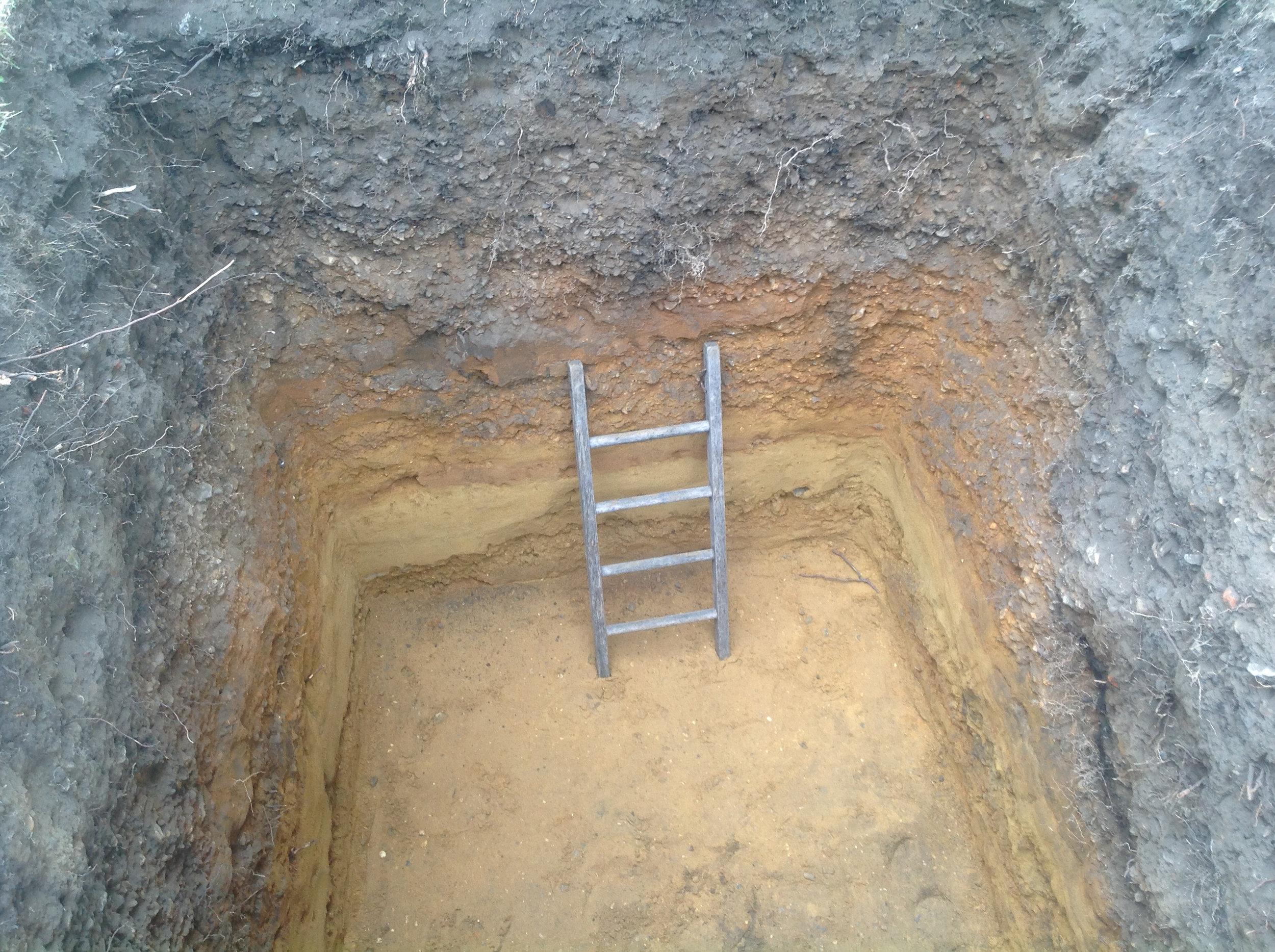 The finished hole.