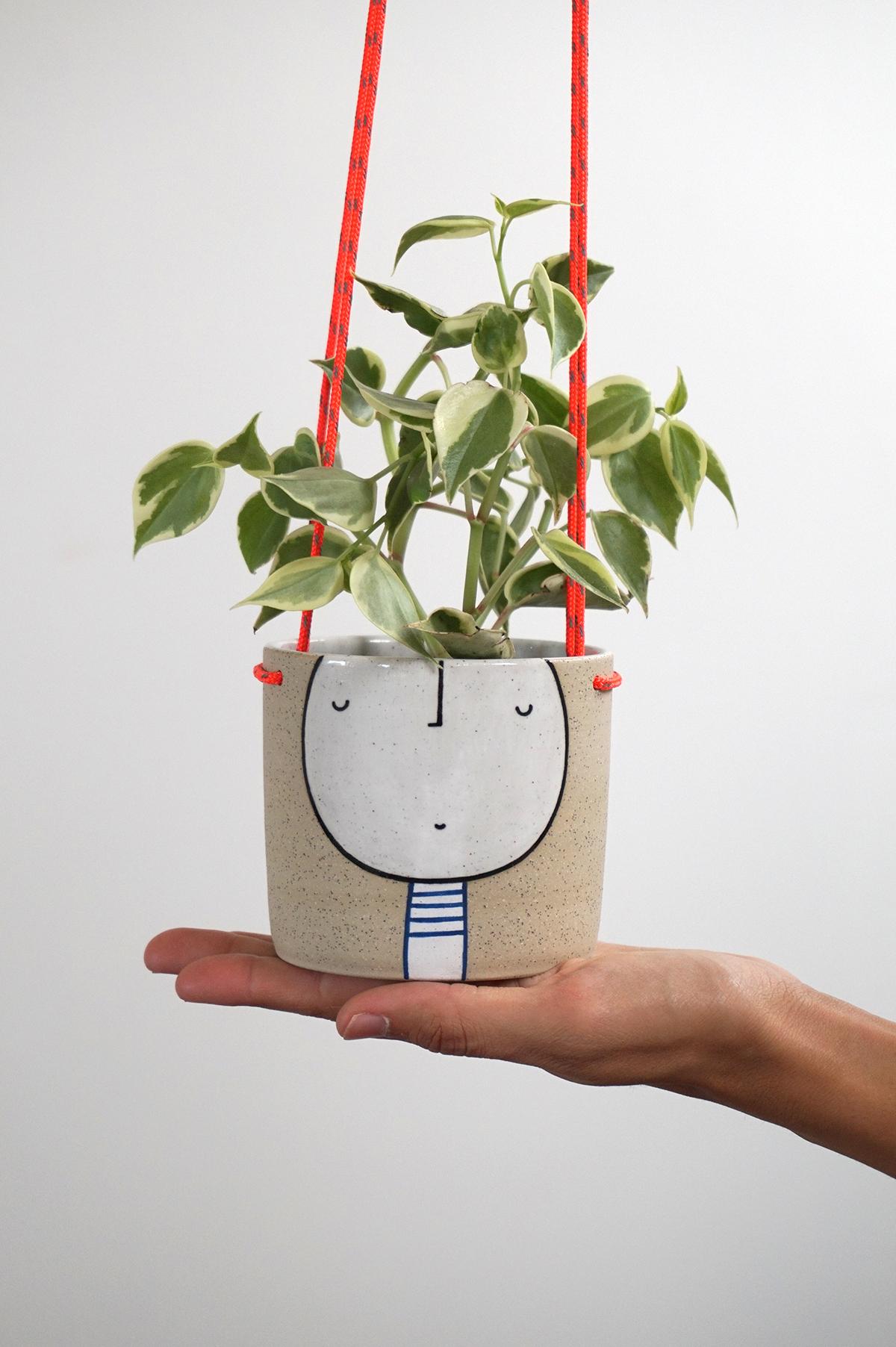 Guy Hanging Planter $85