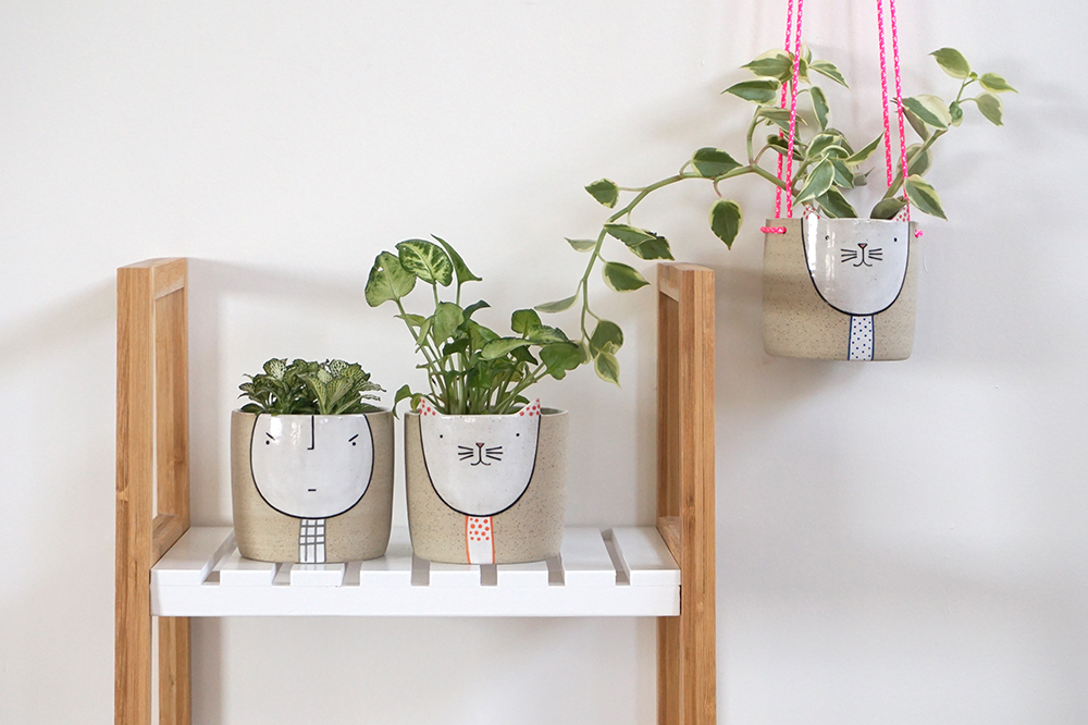 Kitty & Guy Planters