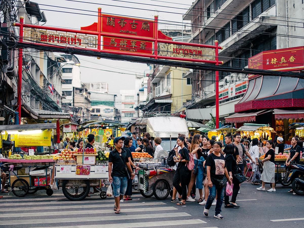 Streetfood stalls.