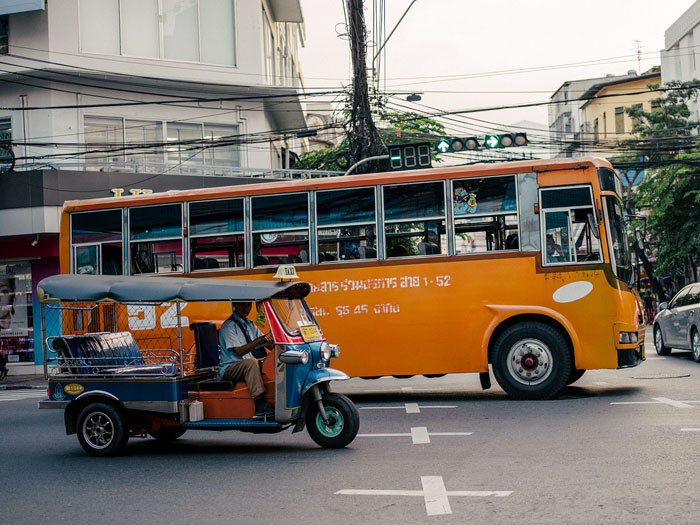 (In)famous Bangkok traffic.