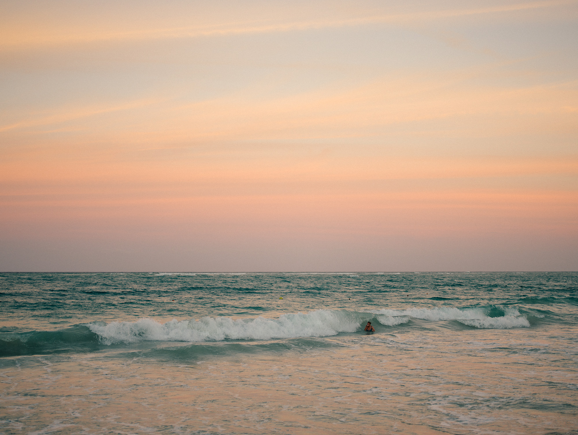 The color of the water looks magical when the sun sets.  This picture on your wall?