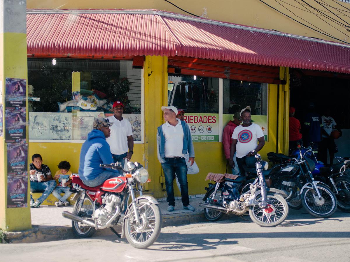 Motorcycles in Azua.