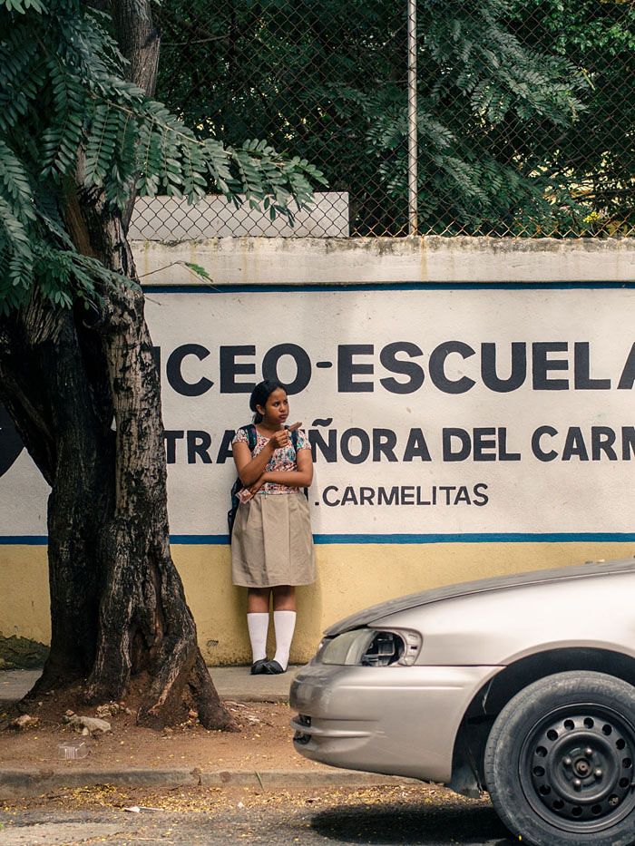 A school girl in Santo Domingo.