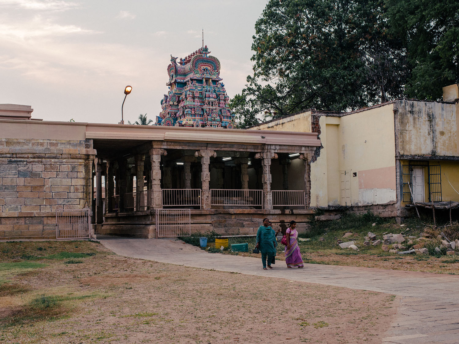 Backside of the temple complex.