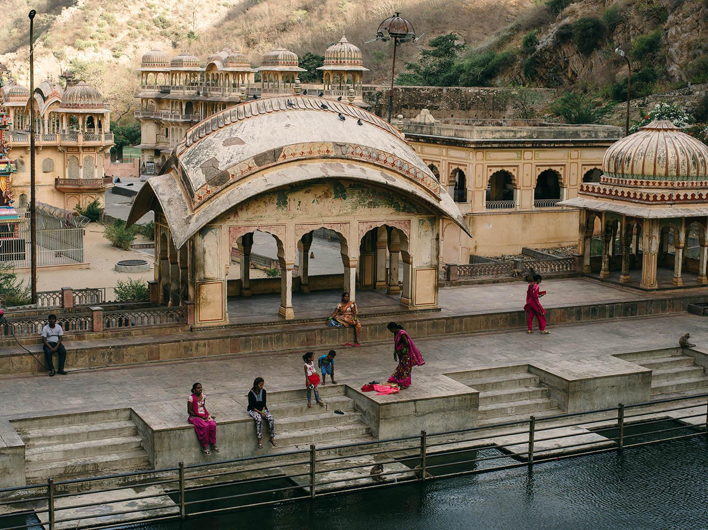Galta Ji or Monkey Temple in Jaipur.