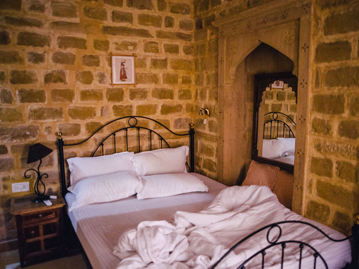 Jaisalmer guesthouse room.
