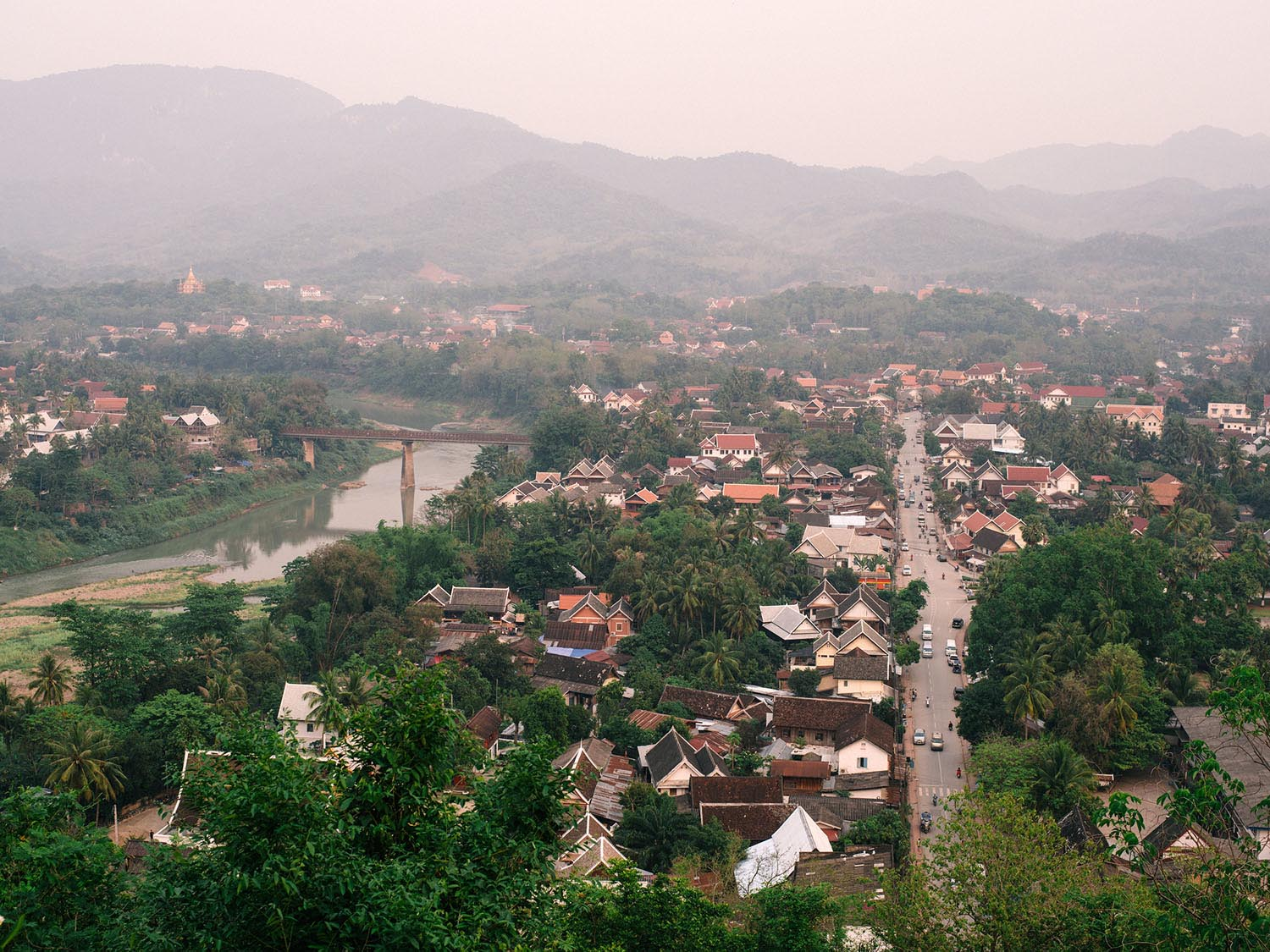 View on Luang Prabang from Mount Phou Si