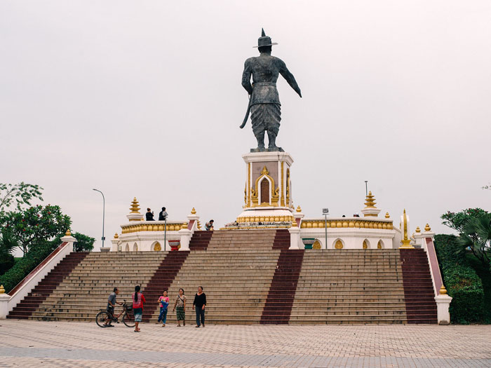 Chao Anouvong Statue, Vientiane.