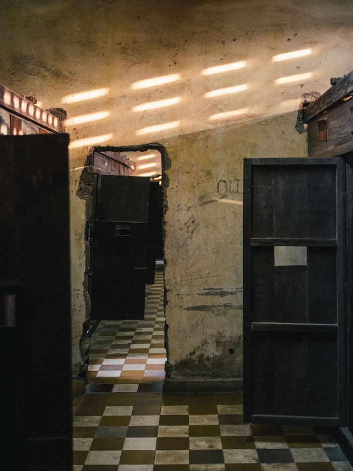 Prison cells built inside the class rooms.