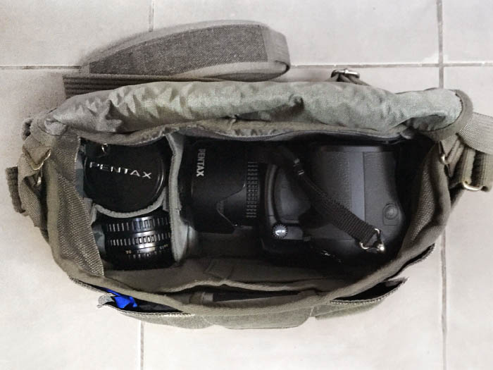 My Pentax 645z and three lenses. Plenty of room left for external hard drives, batteries, viewfinder, flash...