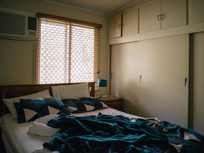 Our Airbnb room in Rockhampton.