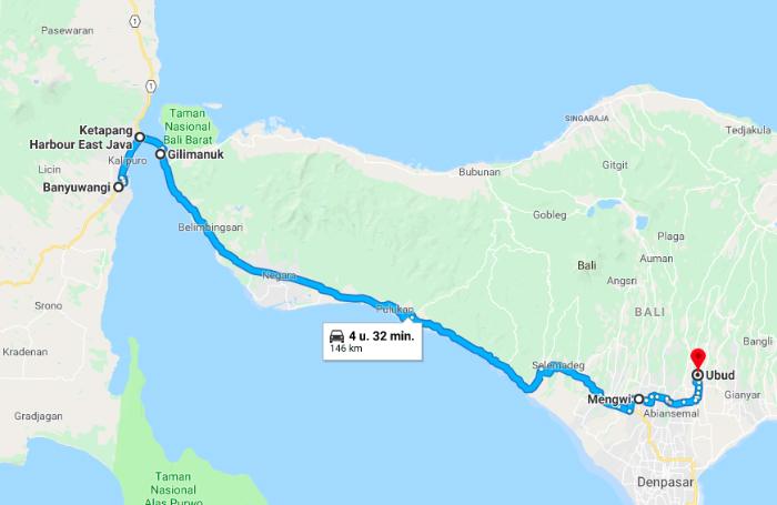 Java to Bali/Ubud.