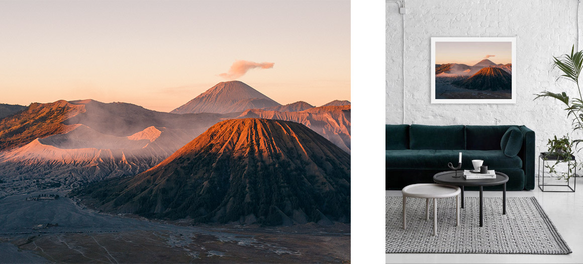I just love the red and brown tones of that sunrise over Mount Bromo!