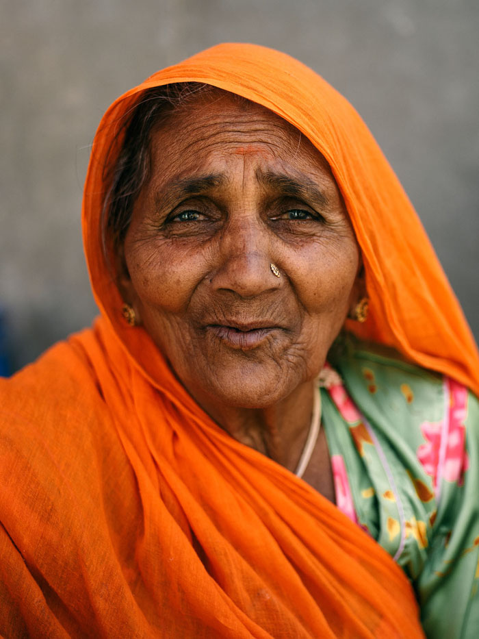 Portrait of a fruit vendor in Udaipur.