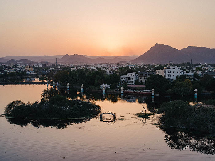 A sunset in Udaipur.