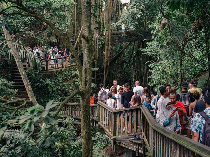 The crowds in Ubud.