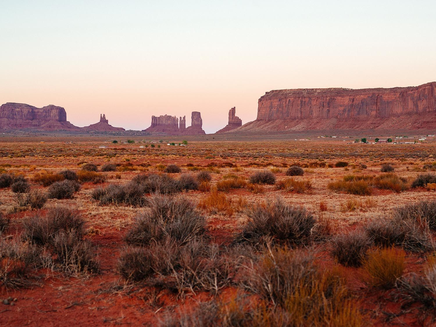 Monument Valley, USA. Sunset.