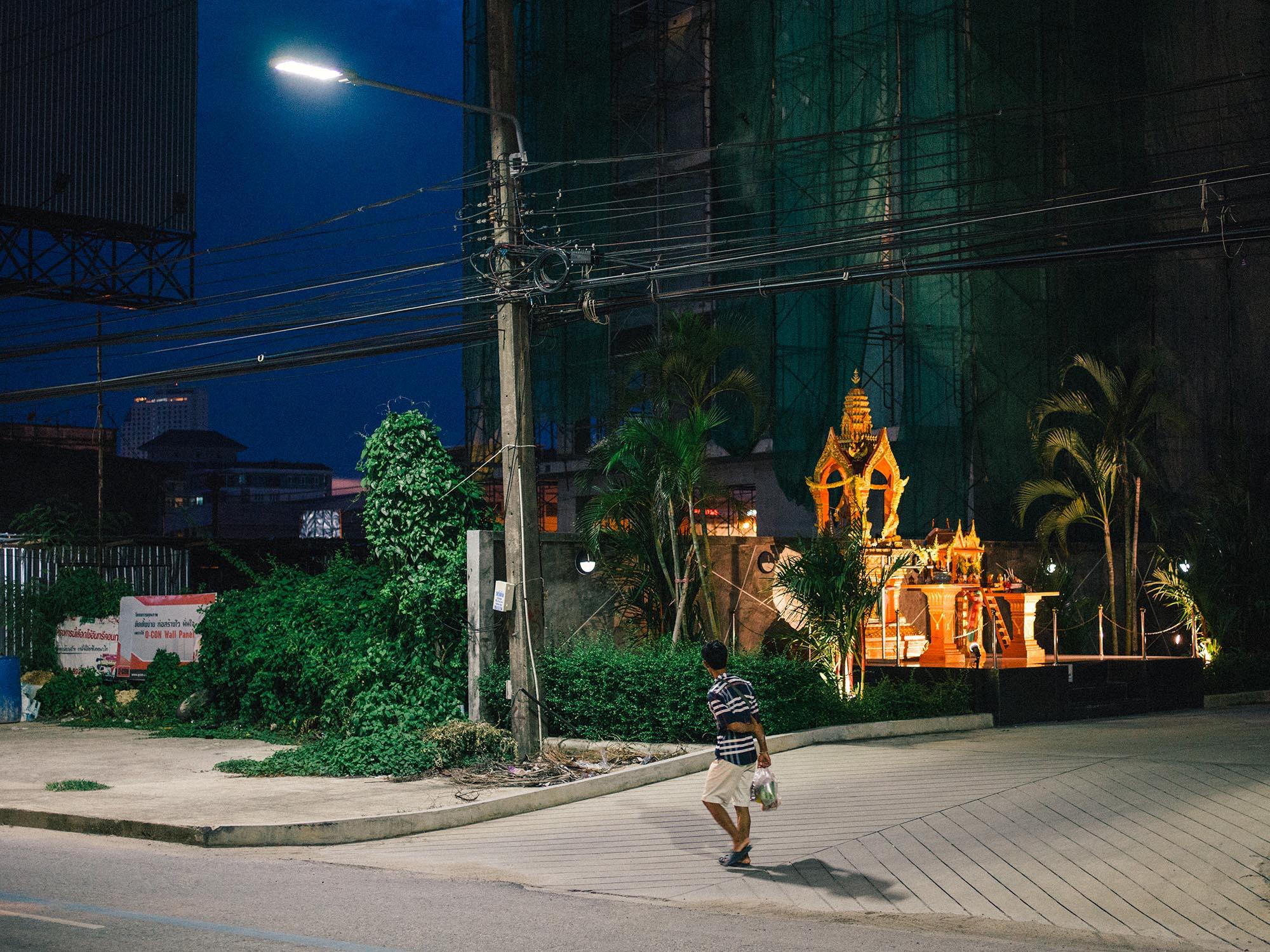 After dark scene, Thailand.