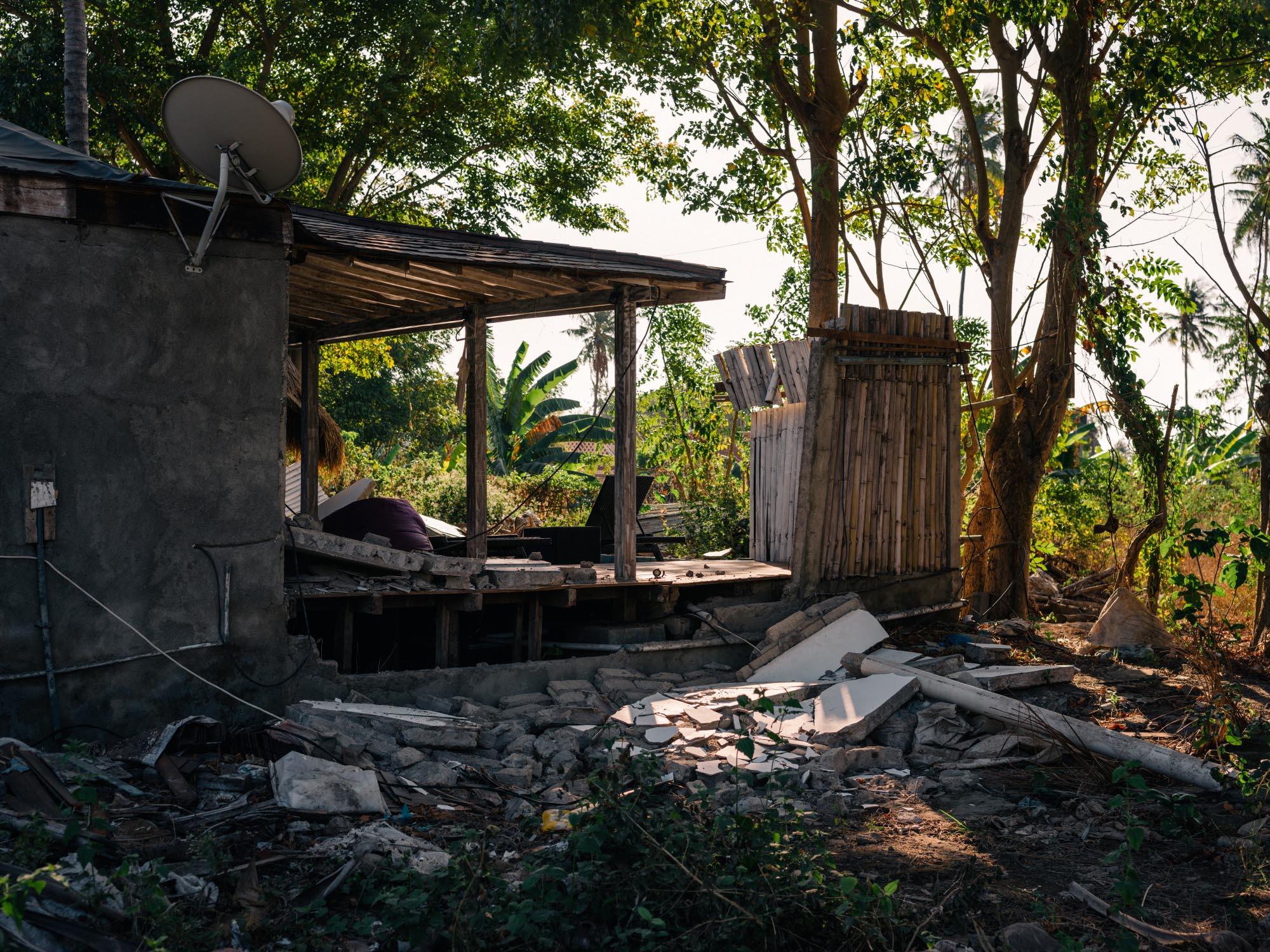 Damage Earthquake Gili Air - Lombok 2018.
