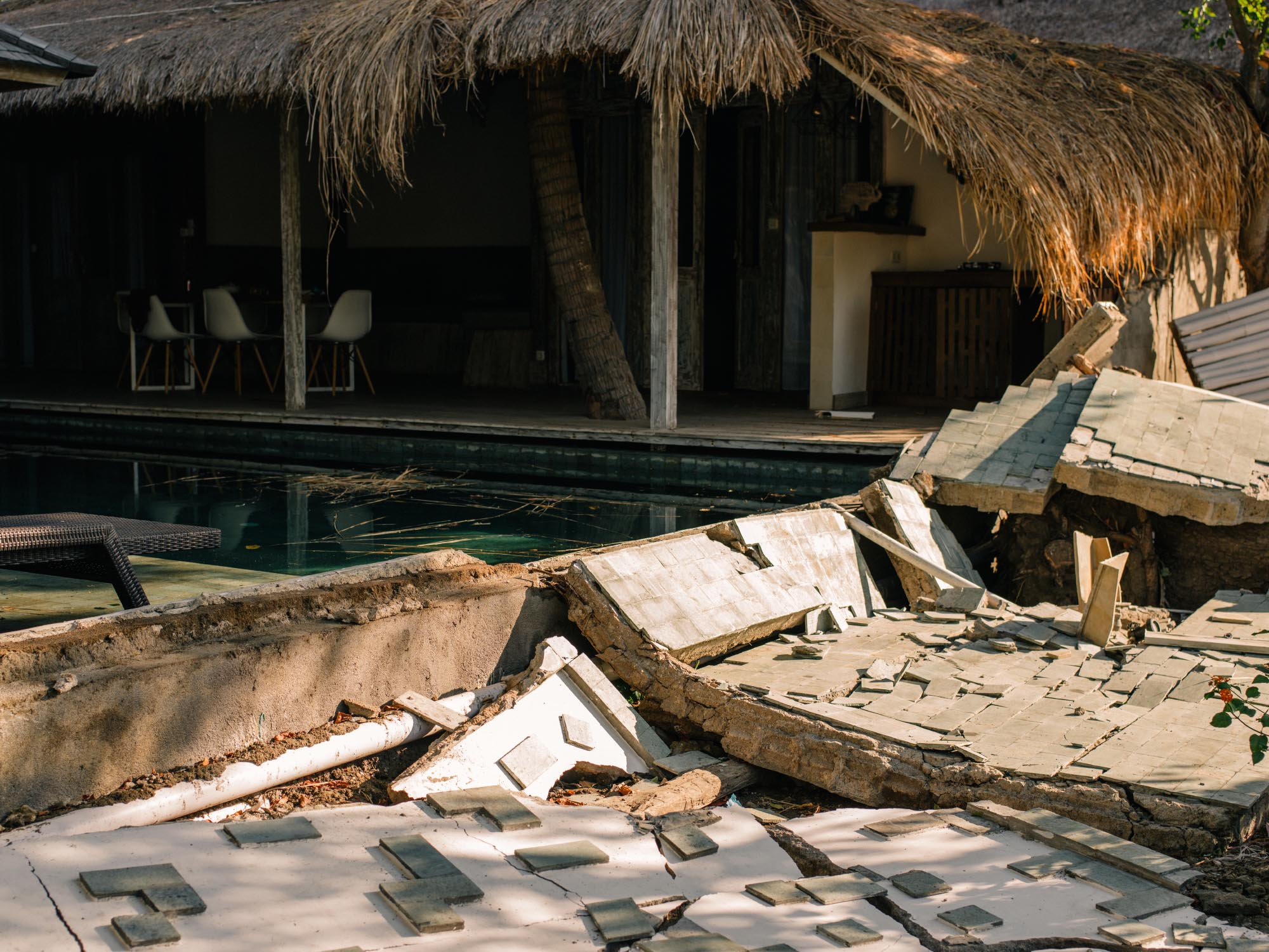 Damage Earthquake Gili Air - Lombok 2018.