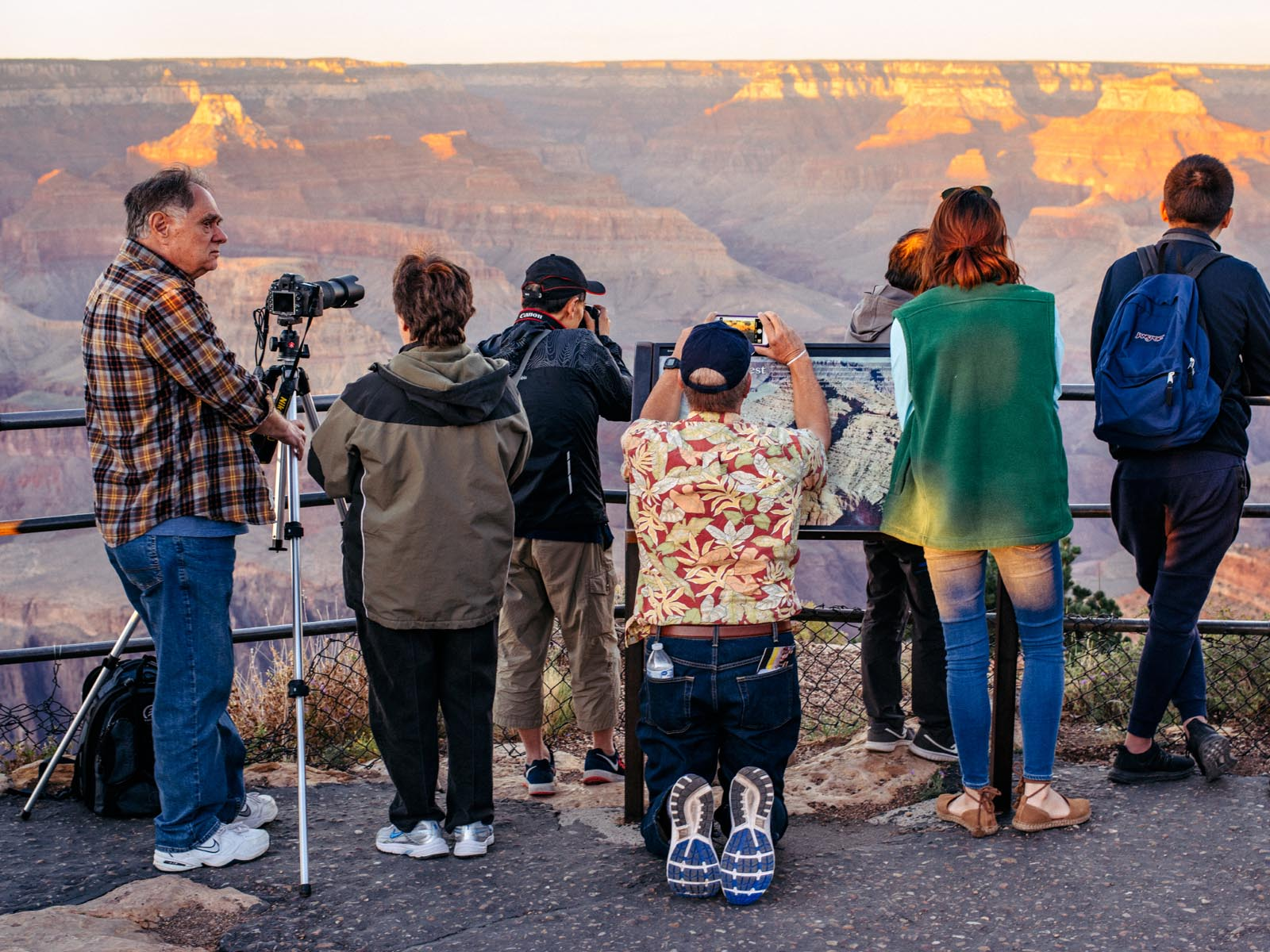Everybody is a travel photographer at the Grand Canyon.