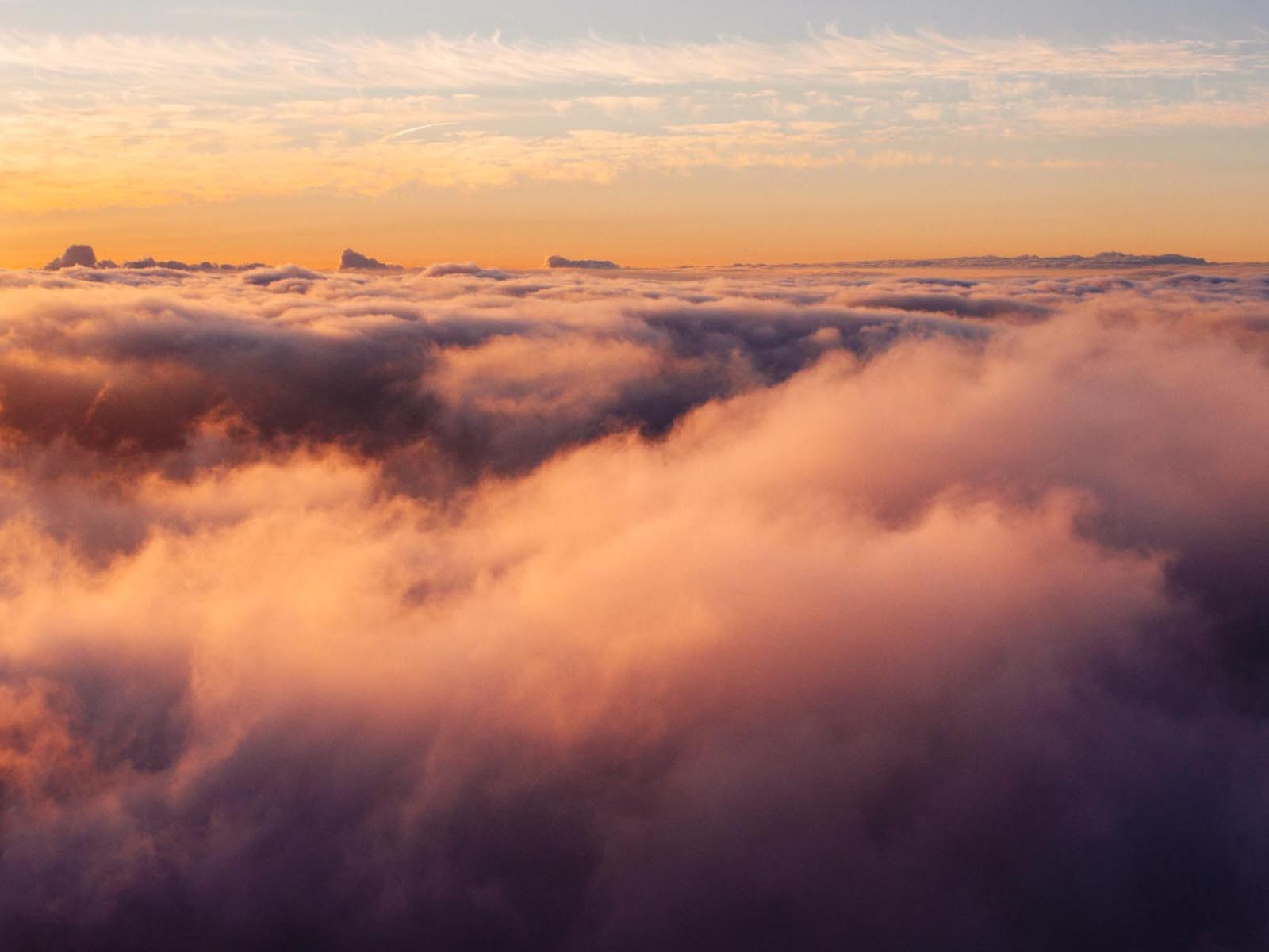 This is where I've spent a lot of time in the past year… above the clouds.