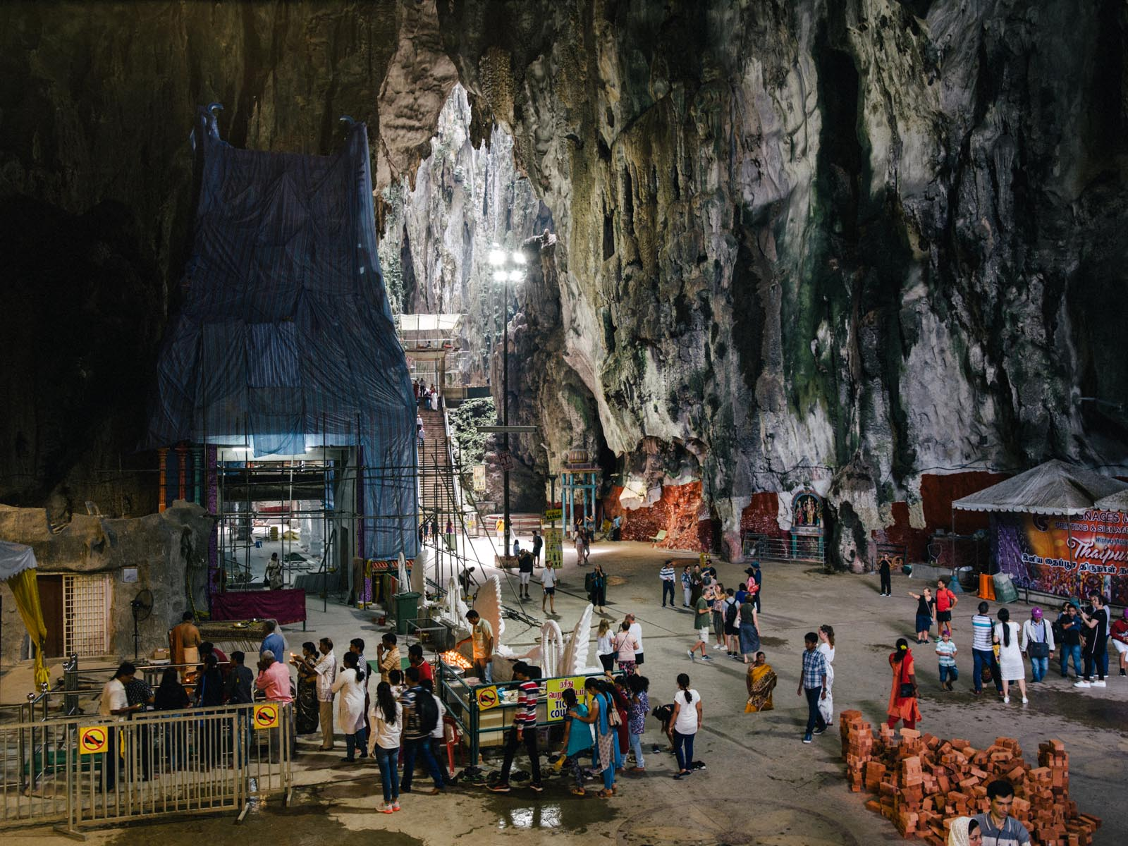 The Batu Caves were pretty much a construction area which added to the slight disappointment when we visited.  All photography by    Joris Hermans.