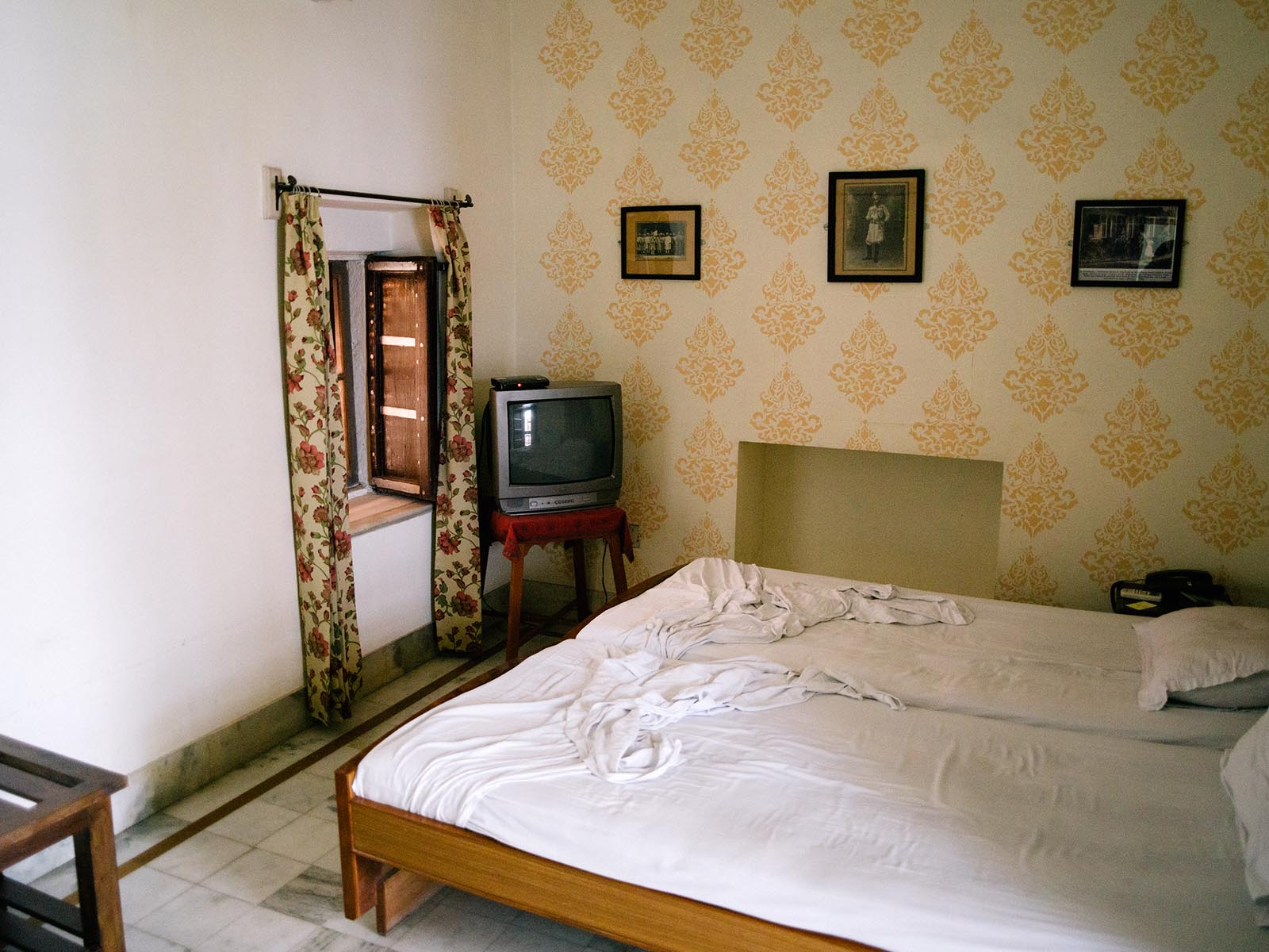 Our room in Bikaner. Photography by  Joris Hermans.
